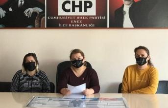 "CHP Enez'den ""İstanbul Sözleşmesi"" tepkisi"