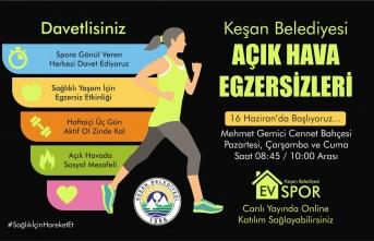 Keşan Belediyesi'nden sağlıklı yaşam için egzersiz etkinliği