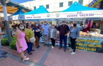 Başkan Demir, Enez'de İpsalalı üreticileri ziyaret etti