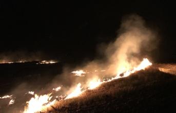 Edirne, Sazlıdere'de korkutan yangın
