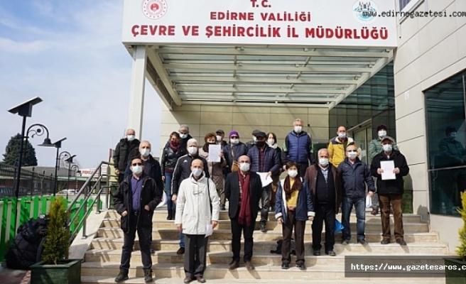 Edirneliler'den kurşun kırma tesisine itiraz