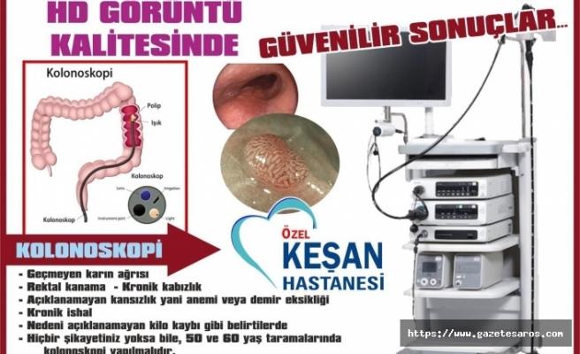 Özel Keşan Hastanesi'nin yenilenen endoskopi cihazı hizmete girdi