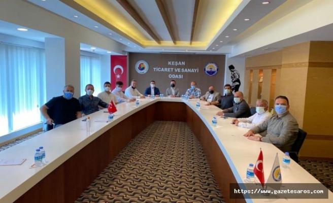 AKP Keşan'dan TSO'ya ziyaret