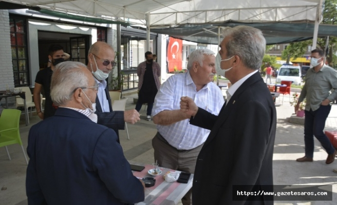 Başkan Ünsal, esnafla buluşmaya devam ediyor