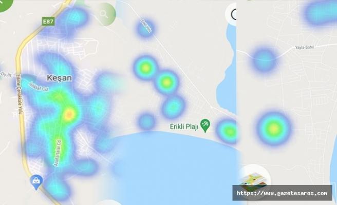 Saros sahillerinde Kovid-19 vaka artışı ediyor