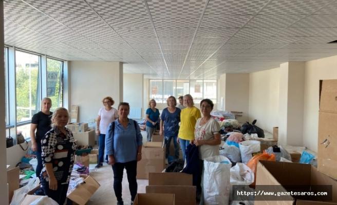 CHP'li kadınların yardımları ulaştı
