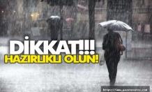 Trakya'ya kuvvetli yağış uyarısı