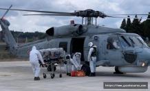 Ağırlaşan korona hastası, helikopterle tahliye edildi
