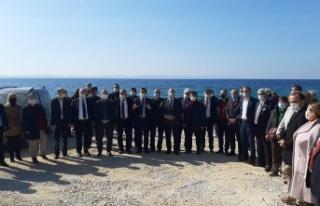 Saros Körfezi'nde hukuka rağmen inşaat devam...
