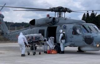 Ağırlaşan korona hastası, helikopterle tahliye...