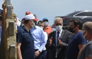Başkan Ünsal, Vali Canalp ile birlikte çeltik sahalarını...