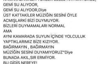 """AK Partili vekilden uyarı: """"gemi su alıyor"""""""