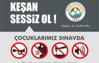Keşan Belediyesi, YKS sınavında sessizliği sağlayacak