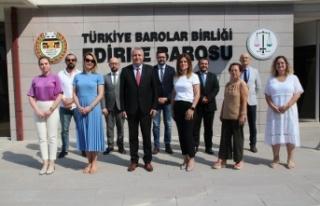 Edirne Barosu'nda yeni yönetimin görev dağılımı...