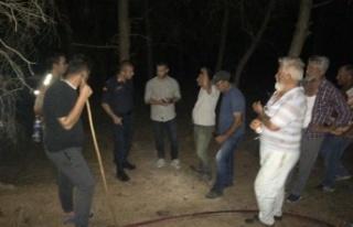 Enez'de başlayan orman yangını korkuttu