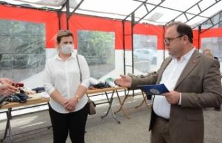 Keşan'da 150 kişiye, 1700 parça eşya dağıtıldı