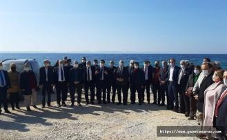 Saros Körfezi'nde hukuka rağmen inşaat devam ediyor