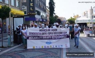 Kamu emekçileri, Edirne'den Ankara'ya yürüyor