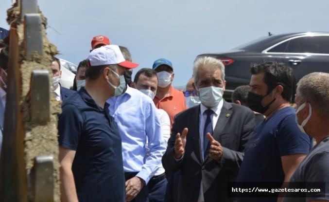 Başkan Ünsal, Vali Canalp ile birlikte çeltik sahalarını inceledi